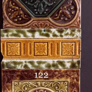 Victorian majolica embossed tiles