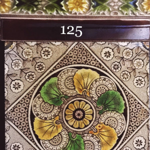 Victorian transfer printed aesthetic tiles