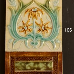 majolica art nouveau tiles