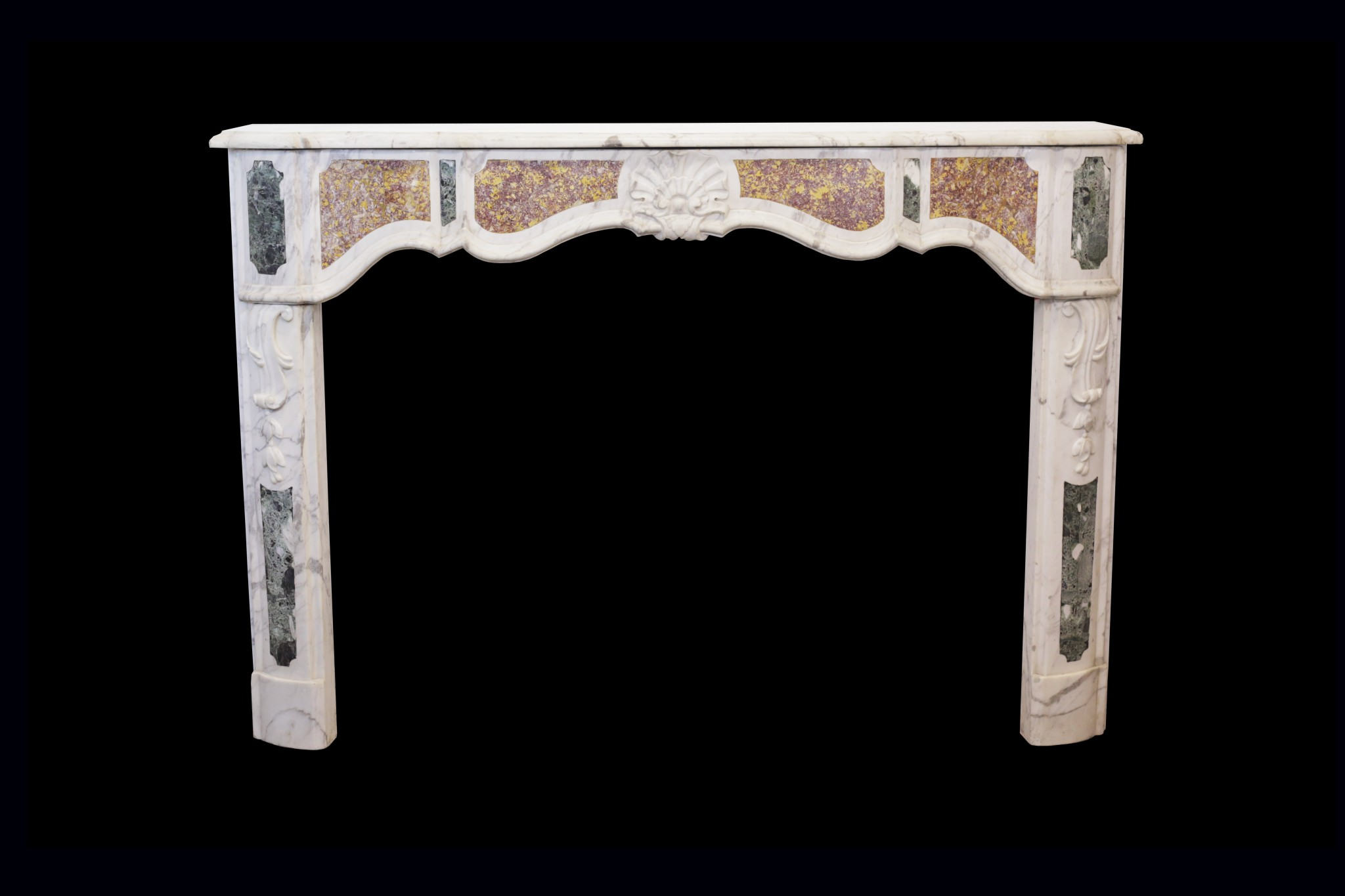 Statuary French-Italian Marble Fireplace Surround