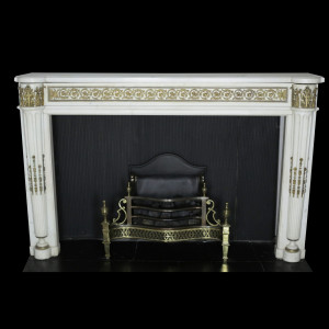 Statuary-Marble-Fireplace-Ormolu Louis-XVI