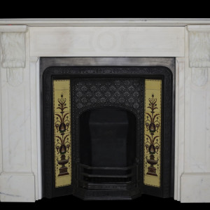 Statuary Marble Victorian carved corbel fire surround