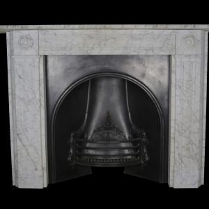 Regency pencil veined carrara marble surround