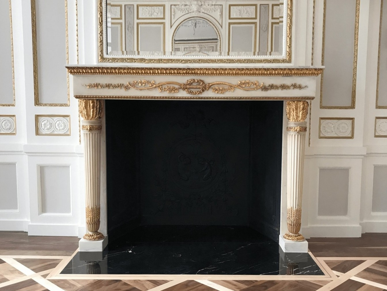 Grosvenor Crescent Embassy Restored Fireplace